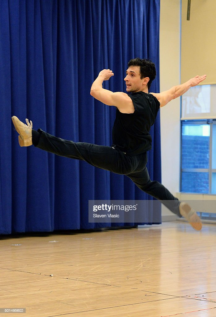 Cast member of American Dance Machine For The 21st Century Rick Faugno performs at the American Dance Machine For The 21st Century press preview at...