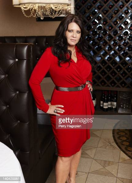 Cast member of reality show 'Mob Wives' Karen Gravano is photographed for Reality Weekly on January 16 2012 in Staten Island New York