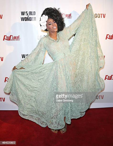 Cast member of season seven of 'RuPaul's Drag Race' Jasmine Masters arrives at viewing party for the show's premiere at the Chateau Nightclub Rooftop...