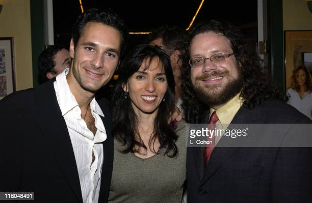 Cast member Raoul Bova Director Audrey Wells Film Composer Christophe Beck celebrate the release of the soundtrack from the film 'Under the Tuscan...