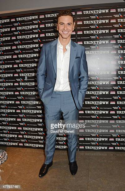 Cast member Richard Fleeshman attends the press night performance of 'Urinetown' at the St James Theatre on March 11 2014 in London England
