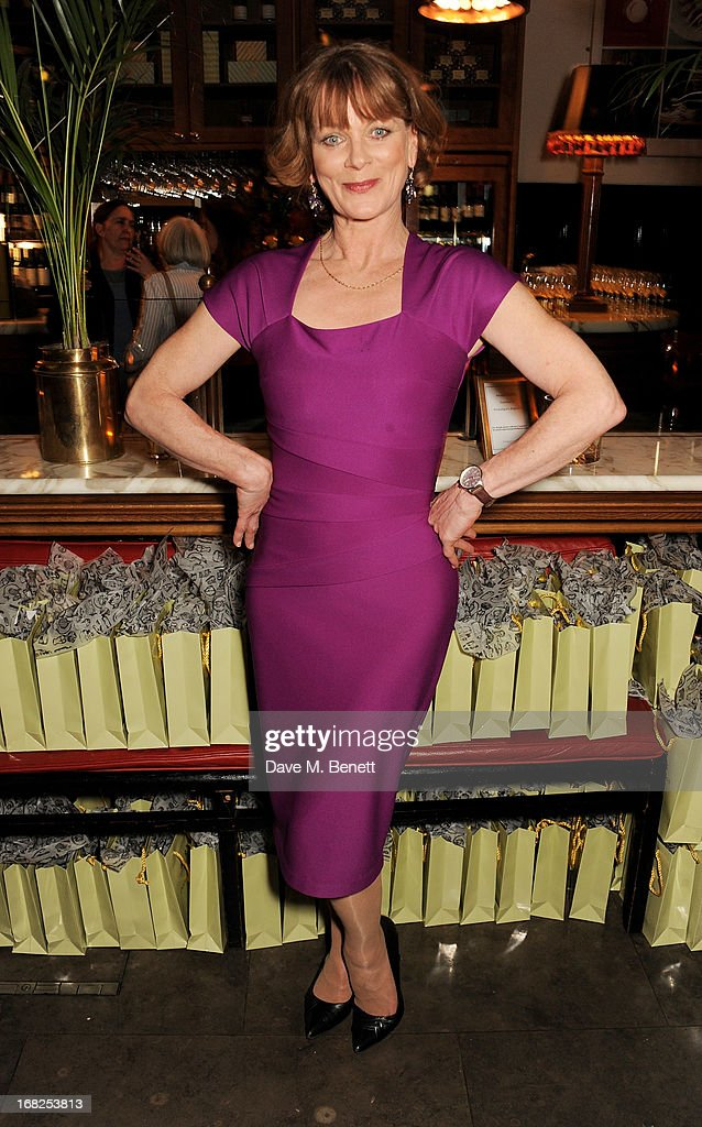 Cast member Samantha Bond attends an after party following the press night performance of 'Passion Play' at The National Gallery on May 7, 2013 in London, England.