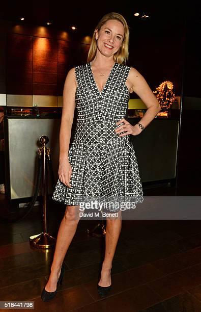Cast member Tamzin Outhwaite attends the press night after party of 'How The Other Half Loves' at Mint Leaf on March 31 2016 in London England