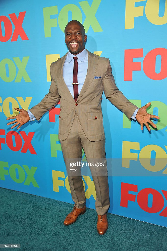 NINE cast member <a gi-track='captionPersonalityLinkClicked' href=/galleries/search?phrase=Terry+Crews&family=editorial&specificpeople=569932 ng-click='$event.stopPropagation()'>Terry Crews</a> during the FOX 2014 FANFRONT event at The Beacon Theatre in NY on Monday, May 12, 2014.