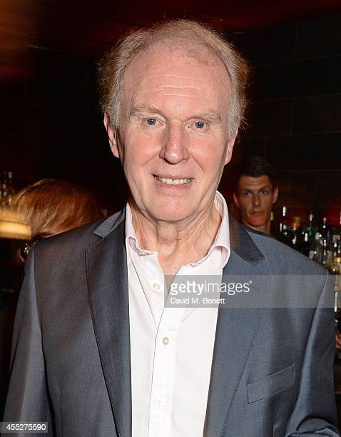 Cast member Tim PigottSmith attends an after party celebrating the press night performance of 'King Charles III' at Mint Leaf Restaurant on September...