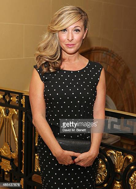 Cast member Tracy Ann Oberman attends the after party following the press night performance of 'McQueen' at The Club at Cafe Royal on August 27 2015...