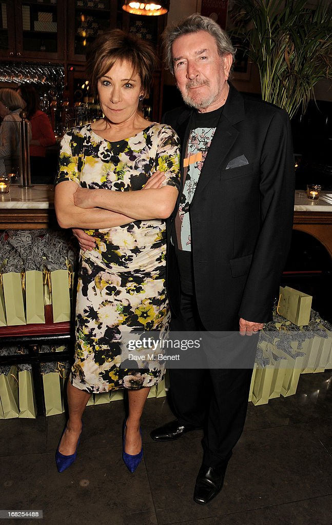 Cast member <a gi-track='captionPersonalityLinkClicked' href=/galleries/search?phrase=Zoe+Wanamaker&family=editorial&specificpeople=224028 ng-click='$event.stopPropagation()'>Zoe Wanamaker</a> (L) and Gawn Grainger attend an after party following the press night performance of 'Passion Play' at The National Gallery on May 7, 2013 in London, England.