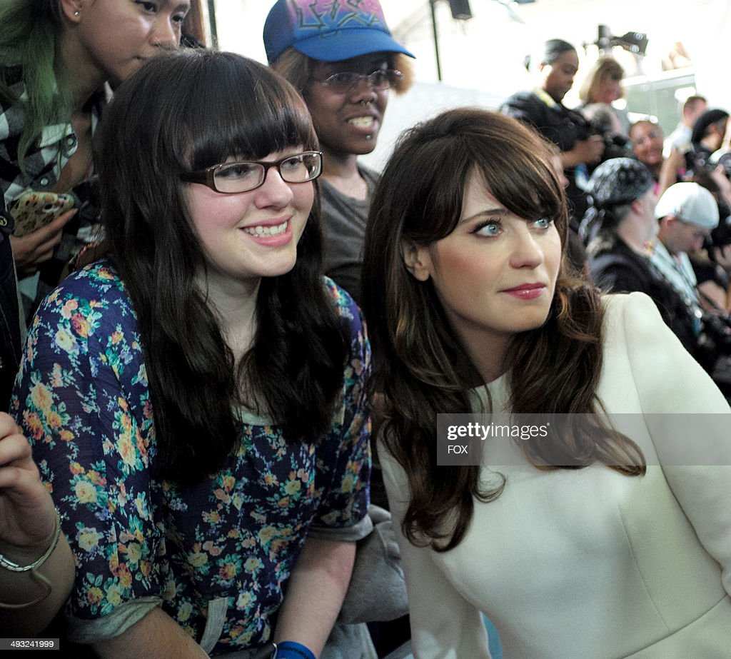 NEW GIRL cast member Zooey Deshanel during the FOX 2014 FANFRONT event at The Beacon Theatre in NY on Monday, May 12, 2014.