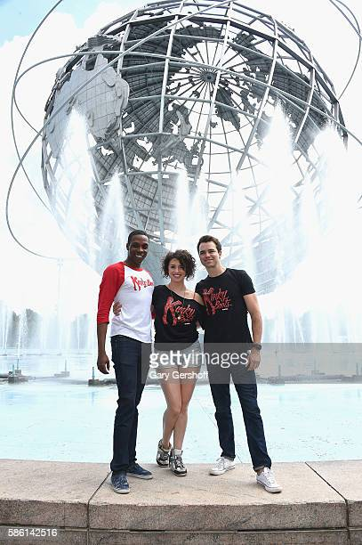 Cast members Alan Mingo Jr Mia Gentile and Ross Lekites of the Broadway show 'Kinky Boots' attend Broadway in the Boros at Flushing Meadows Corona...