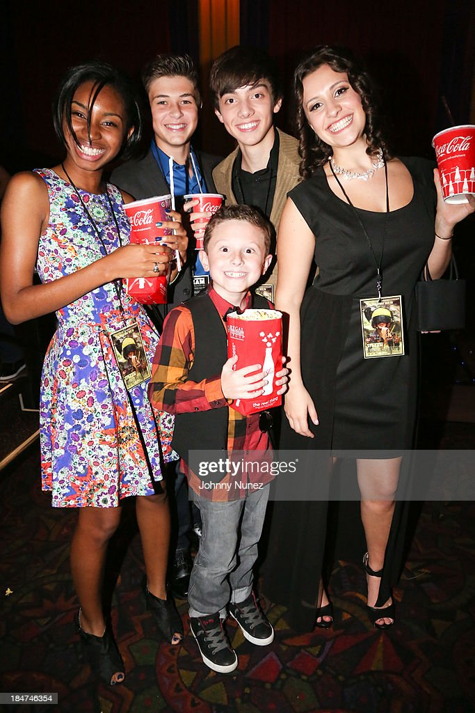 Cast members Alissa Smith, Jacob M Williams, CJ Diehl, Noura Jost and Michael Capperella attend 'The Stream' Premiere at Regal Union Square Theatre, Stadium 14 on October 15, 2013 in New York City.