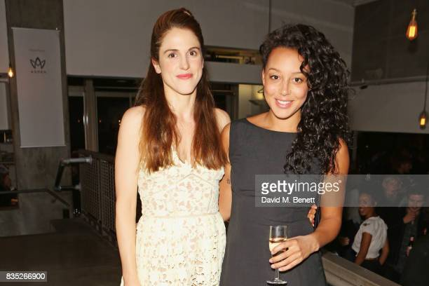 Cast members Amanda Hale and Adelle Leonce attend the press night after party for 'Against' at The Almeida Theatre on August 18 2017 in London England