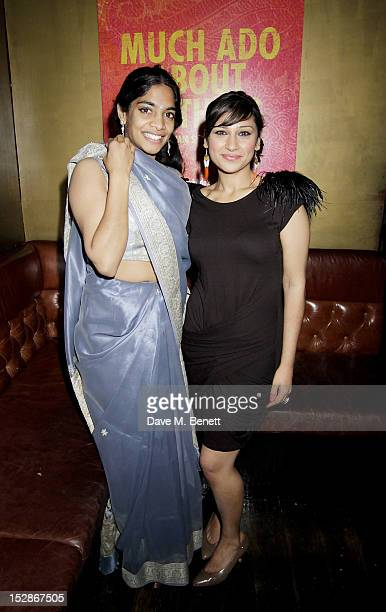 Cast members Amara Karan and Chetna Pandya attend an after party following the Press Night performance of the RSC's 'Much Ado About Nothing' at...