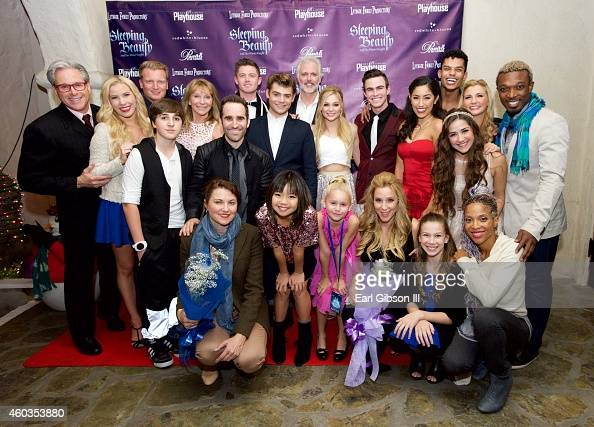 Cast Members and Directors pose for a photo on the Opening Knight of Pasadena Playhouse And Lythgoe Family Productions Presents 'Sleeping Beauty And...
