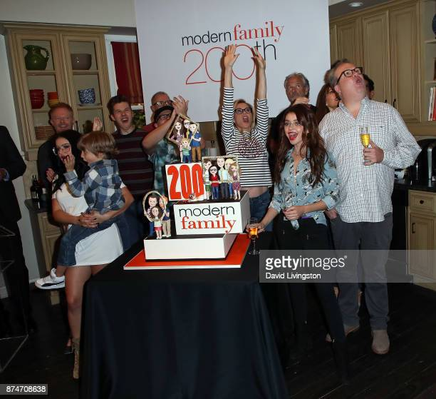 Cast members and producer attend the ABC celebration of the 200th episode of 'Modern Family' at Fox Studios on November 15 2017 in Los Angeles...