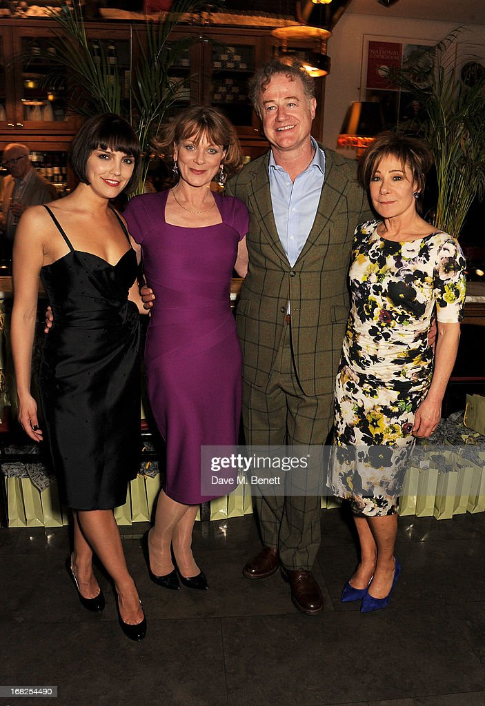 Cast members Annabel Scholey, <a gi-track='captionPersonalityLinkClicked' href=/galleries/search?phrase=Samantha+Bond&family=editorial&specificpeople=209017 ng-click='$event.stopPropagation()'>Samantha Bond</a>, Owen Teale and <a gi-track='captionPersonalityLinkClicked' href=/galleries/search?phrase=Zoe+Wanamaker&family=editorial&specificpeople=224028 ng-click='$event.stopPropagation()'>Zoe Wanamaker</a> attend an after party following the press night performance of 'Passion Play' at The National Gallery on May 7, 2013 in London, England.