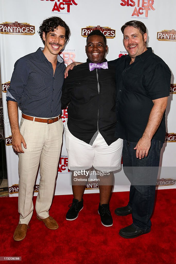 Cast members arrive at the 'Sister Act' opening night premiere at the Pantages Theatre on July 9, 2013 in Hollywood, California.