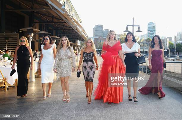 Cast members arrive for The Real Housewives of Sydney Launch Event at Otto restaurant on February 21 2017 in Sydney Australia