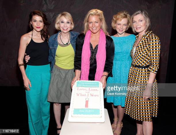 Cast members Ashley Austin Morris Julie Halston Emme Emily Bergl and Susan Sullivan attend the celebration of the 700th OffBroadway performance of...