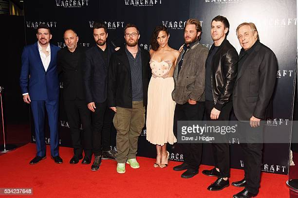 Cast members attend a special screening of 'Warcraft The Beginning' at BFI IMAX on May 25 2016 in London England