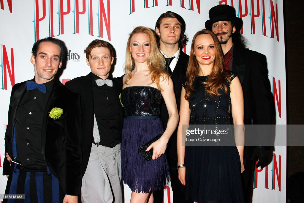 Cast members attend the after party for the Broadway opening night of 'Pippin' at Slate on April 25, 2013 in New York City.