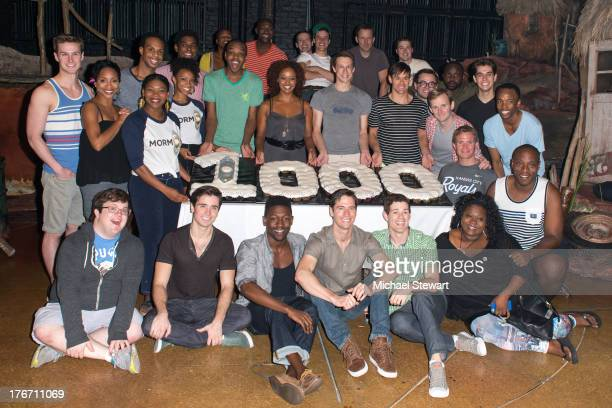 Cast members attend 'The Book Of Mormon' on Broadway 1000th performance celebration at Eugene O'Neill Theatre on August 17 2013 in New York City
