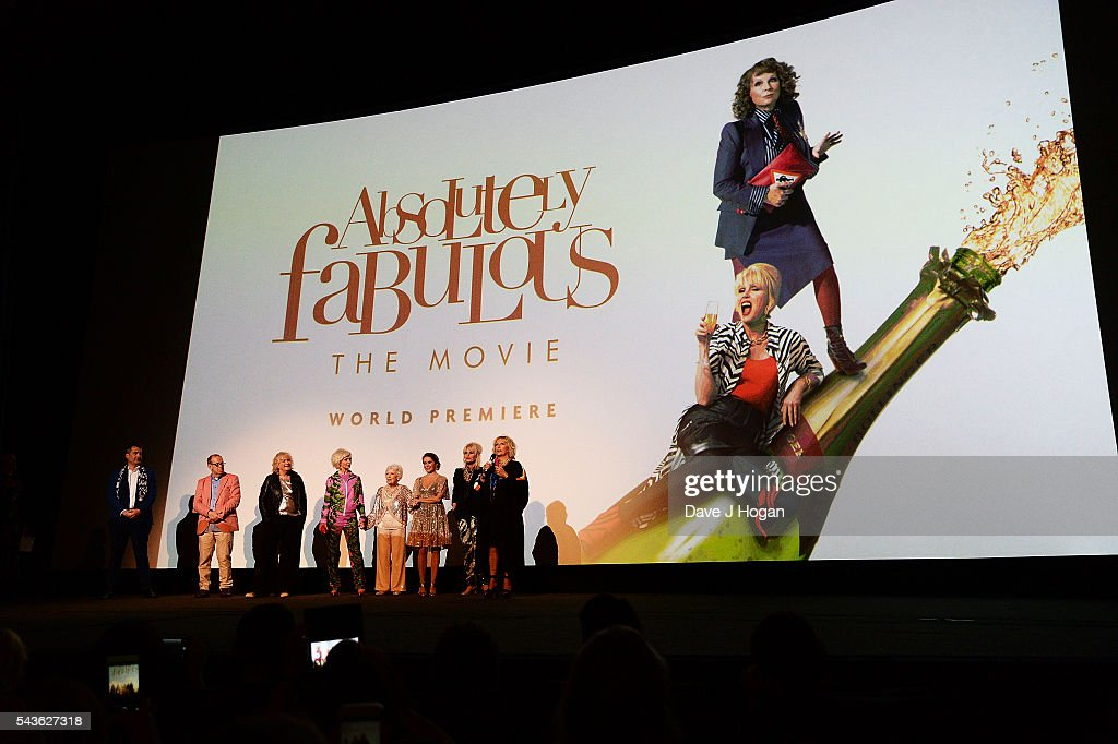 Cast members attend the World Premiere of 'Absolutely Fabulous: The Movie' at Odeon Leicester Square on June 29, 2016 in London, England.