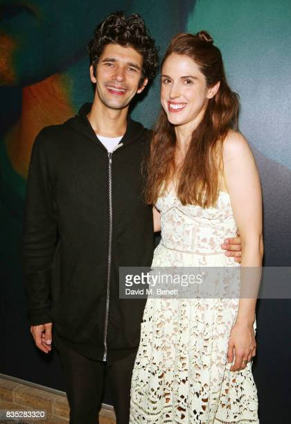 Cast members Ben Whishaw and Amanda Hale attend the press night after party for 'Against' at The Almeida Theatre on August 18 2017 in London England