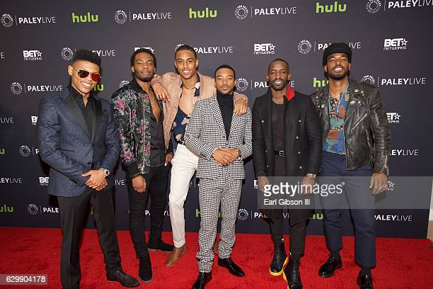 Cast members Bryshere Y Gray Woody McClain Keith Powers Algee Smith Elijah Kelly and Luke James attend 'The New Edition Story' at The Paley Center...