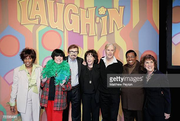 Cast members Chelsea Brown Jo Anne Worley Gary Owens Lily Tomlin Alan Sues Johnny Brown and Ruth Buzzi attend the 'Laugh In' cast reunion at the...