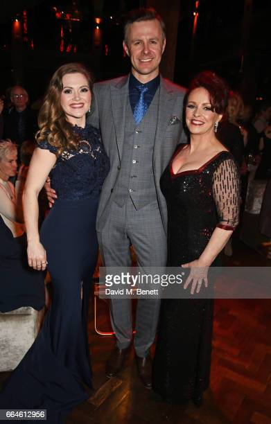 Cast members Clare Halse Tom Lister and Sheena Easton attend the opening night after party for '42nd Street' in aid of the East Anglia Children's...