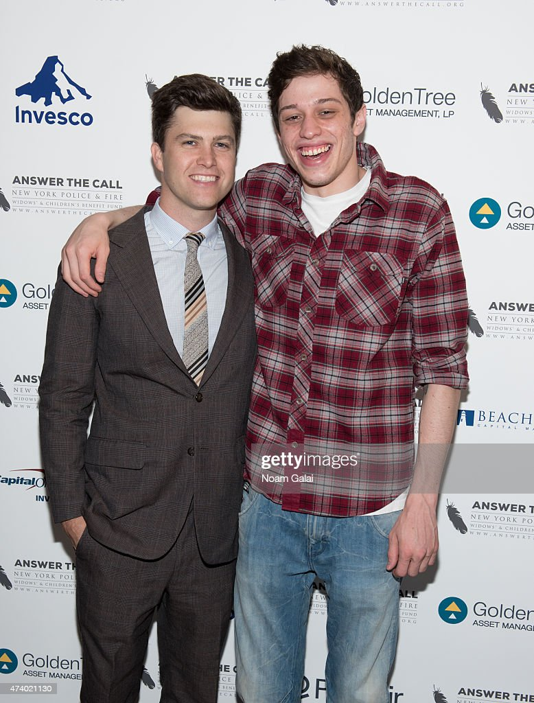 SNL cast members Colin Jost and Pete Davidson attend the 3rd annual New York Police and Fire widows' children's benefit fund kick off to summer...