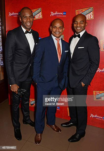 Cast members Colman Domingo Forrest McClendon and Brandon Victor Dixon attend an after party celebrating the press night performance of 'The...