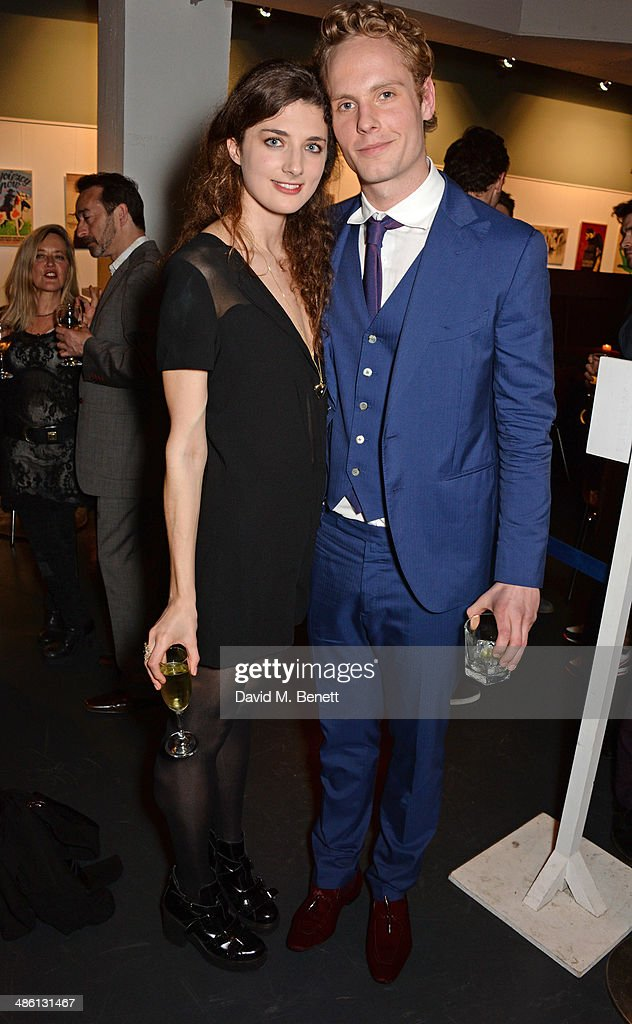 Cast members Daisy Bevan and Jack Fox attend the press night performance of 'Dorian Gray' at the Riverside Studios on April 22 2014 in London England