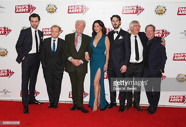 Cast members Daniel Mays Toby Jones Sir Michael Gambon Catherine ZetaJones Blake Harrison Sir Tom Courtenay and Bill Paterson attend the World...