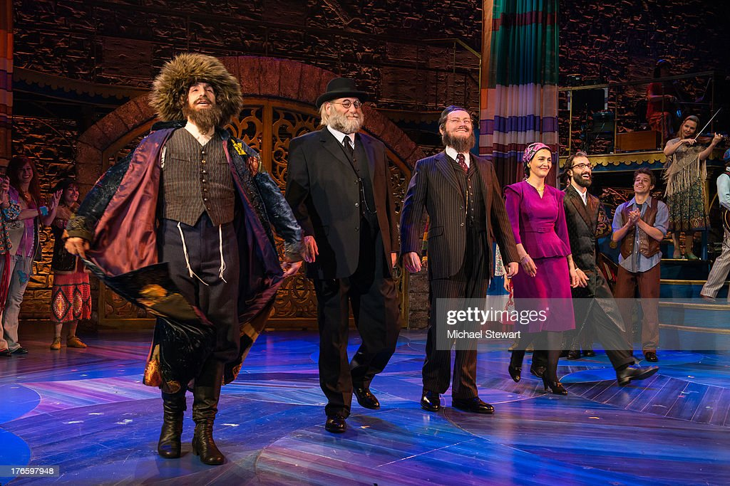 Cast members during the curtain call for the Broadway opening night of 'Soul Doctor' at the Circle in the Square Theatre on August 15, 2013 in New York City.