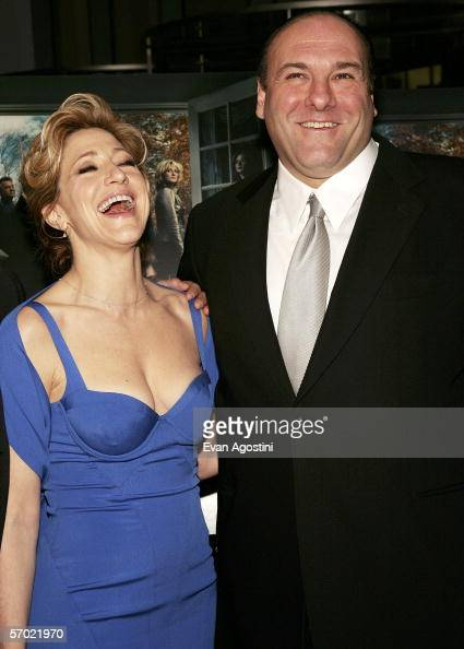 Cast members Edie Falco and James Gandolfini arrive at the HBO Season Premiere Of 'The Sopranos' at the Museum of Modern Art on March 7 2006 in New...