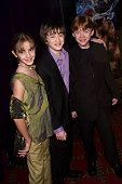 Cast members Emma Watson Daniel Radcliffe and Rupert Grint at the NY Premiere of 'Harry Potter and the Sorcerer's Stone' at the Ziegfeld Theatre in...