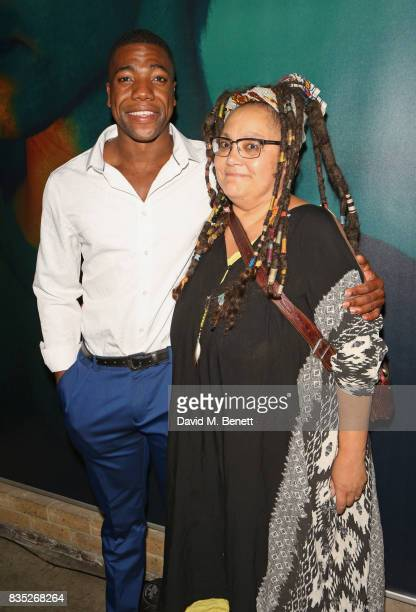 Cast members Fehinti Balogun and Naomi Wirthner attend the press night after party for 'Against' at The Almeida Theatre on August 18 2017 in London...