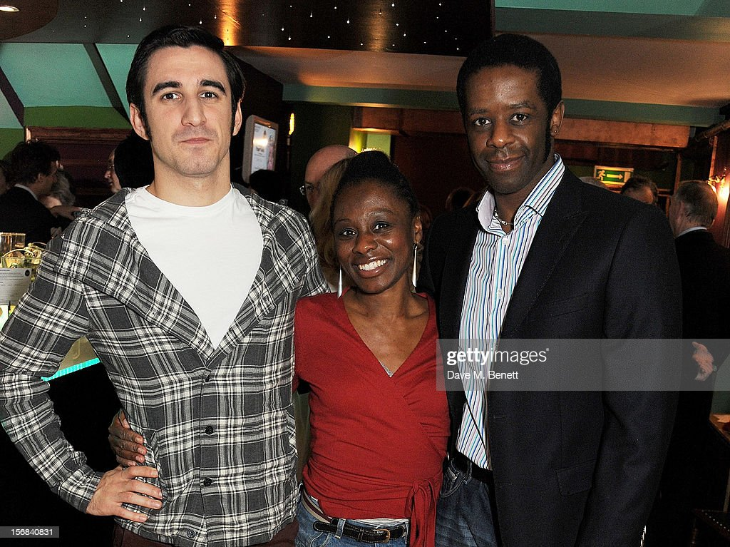 Cast members Ferdinand Kingsley, Natasha Gordon and Adrian Lester attend Tricycle Theatre's 'Red Velvet: The Director's Party' on November 22, 2012 in London, England.