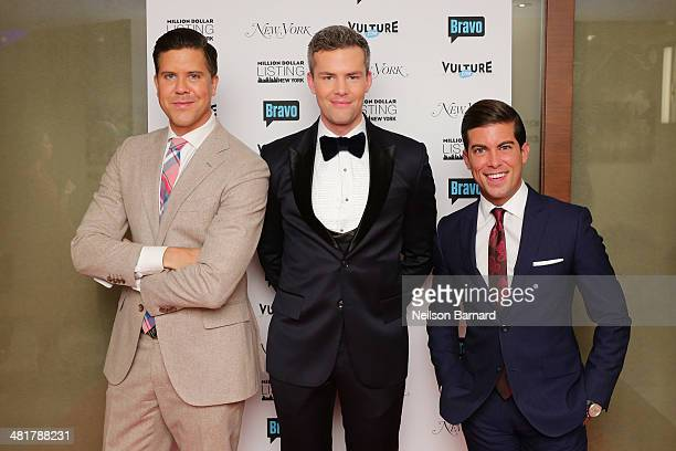 Cast members Fredrik Eklund Luis D Ortiz and Ryan Serhant attend the 3rd season premiere of 'Million Dollar Listing New York' hosted by Vulture and...