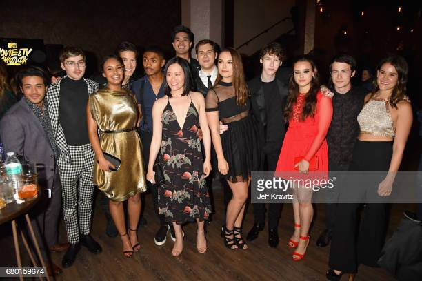 Cast members from '13 Reasons Why' attend the 2017 MTV Movie And TV Awards at The Shrine Auditorium on May 7 2017 in Los Angeles California
