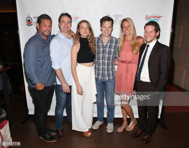 Cast members from 'Acolyte' Alex Dinelaris Ted Koch Bronte EnglandNelson Sam Lilja Orlagh Cassidy Krysta Hibbard and Graham Moore attend the...