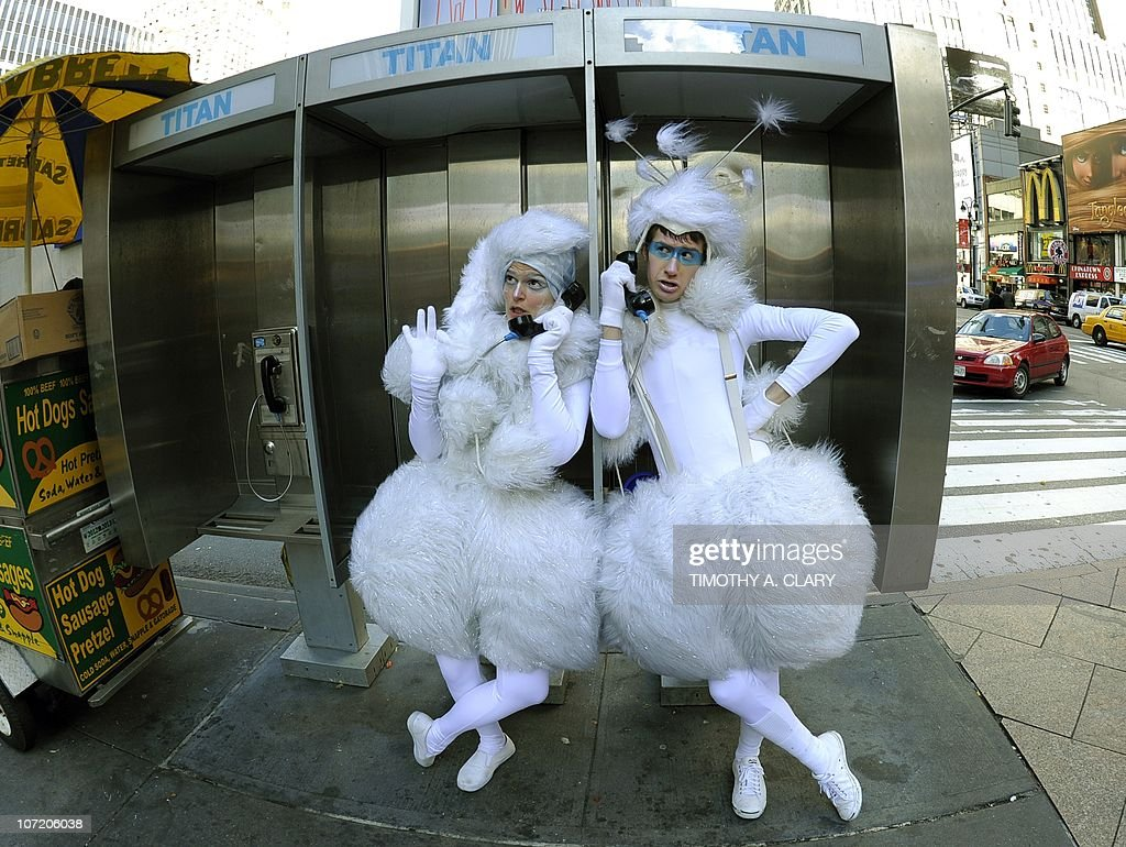Cast members from Cirque Du Soleil kick off their final season of the holiday show 'Wintuk' by posing for pictures before renaming 33rd Street Wintuk Way' in front of Madison Square Garden in New York November 17, 2010. The show runs until January 2,2011.