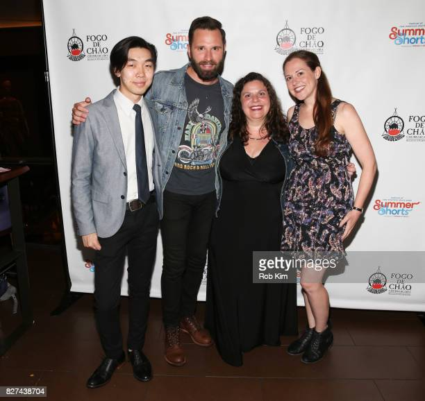 Cast members from 'Jack' Terry Kitagawa Quincy DunnBaker Melissa Ross and Claire Karpen attend the OffBroadway opening night party for 'SUMMER SHORTS...