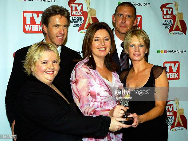 Cast members from Kath and Kim pose with their Silver Logie for most popular Comedy Program at the 46th Annual TV Week Logie Awards at the Crown...