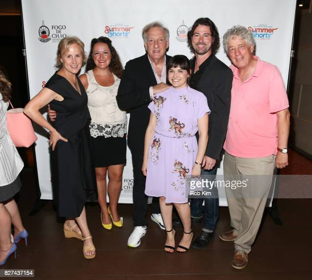 Cast members from 'Playing God' Welker White Sarah Cronk Alan Zweibel Flora Diaz Dana Watkins and Bill Buell attend the OffBroadway opening night...