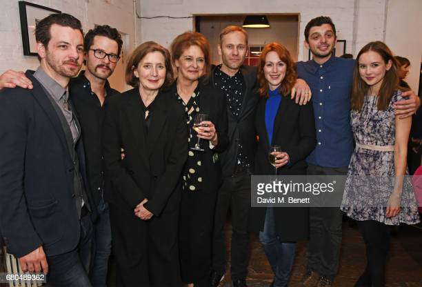 Cast members Gethin Anthony Robert Lonsdale Nancy Crane Kate Fahy director James Hillier Laura Rogers Michael Fox and Alexandra Dowling attend the...