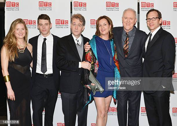 Cast members Grace Gummer Brian J Smith Boyd Gaines Margaret Colin John Lithgow and Stephen Kunken attend after party for the Broadway opening night...