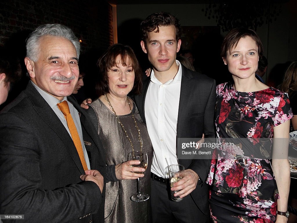 Cast members <a gi-track='captionPersonalityLinkClicked' href=/galleries/search?phrase=Henry+Goodman&family=editorial&specificpeople=2133519 ng-click='$event.stopPropagation()'>Henry Goodman</a>, Deborah Findlay, Nick Hendrix and Naomi Frederick attend an after party following the press night performance of The Old Vic's 'The Winslow Boy' at Baltic Restaurant on March 19, 2013 in London, England.