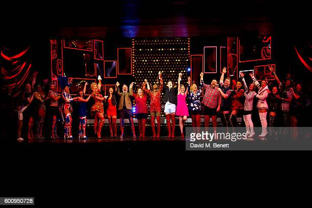 Cast members including Matt Henry Elena Skye Cordelia Farnworth David Hunter Alan Mehdizadeh and Michael Hobbs bow at the curtain call during the 1st...